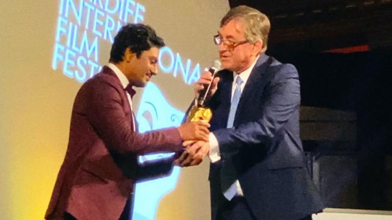 Nawazuddin Siddiqui honoured with the prestigious Golden Dragon Award at Cardiff International Film Festival.