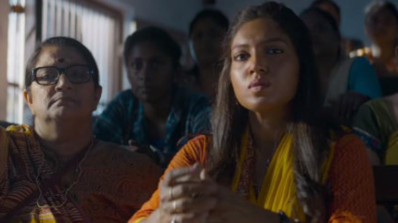 Bhumi Pednekar and Seema Pahwa in Bala.