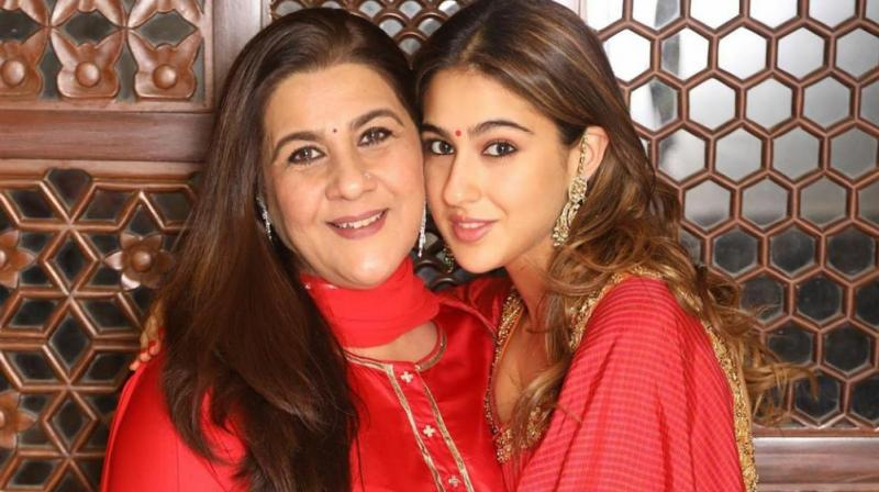 Sara Ali Khan with her mother Amrita Singh.