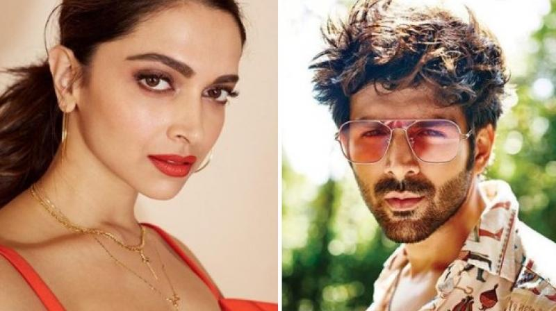Deepika Padukone asks Kartik Aaryan to teach him `Dheeme Dheeme` hook step