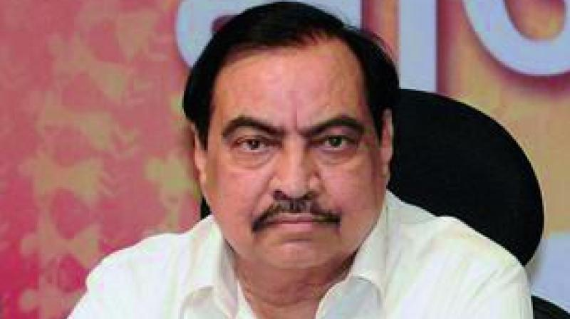 """Khadse, speaking to reporters in Jalgaon, his home district in North Maharashtra, said whatever had been """"decided"""" between the saffron allies in the past should be made public for better understanding of the power-sharing issue. (Photo: File)"""