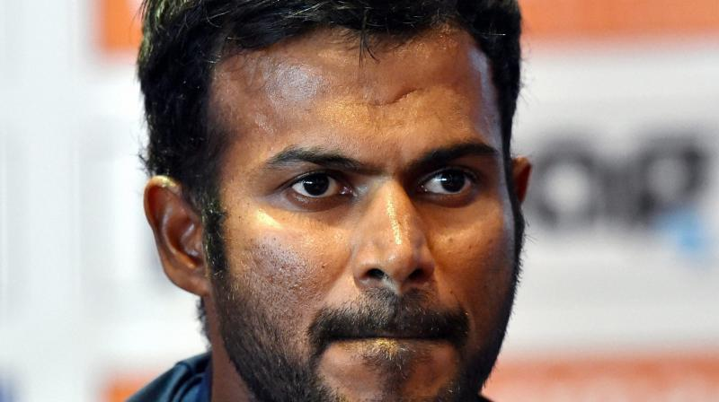 Upul Tharanga has been suspended from his side's upcoming matches against India in Pallekele and Colombo on August 27 and August 31 respectively, while each of his players have received a fine of 40 per cent.(Photo: AP)