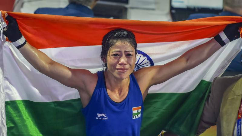 This was Mary's second gold in the tournament, having won in 48 kg last year in the capital. (Photo: PTI)