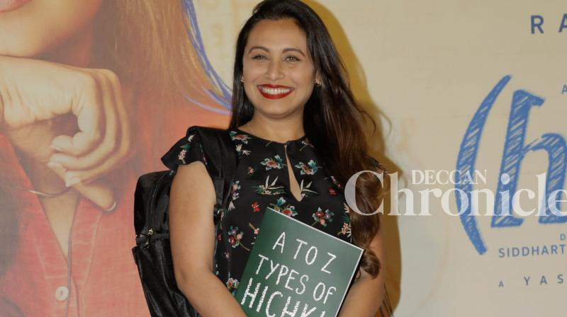 Rani Mukerji at 'Hichki' trailer launch.