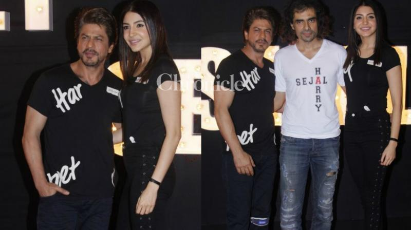 The team of the film 'Jab Harry Met Sejal' launched the song 'Beech Beech Mein' at a Mumbai nightclub late Monday. (Photo: Viral Bhayani)