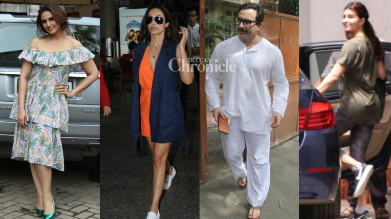 Bollywood stars stepped out for their professional and personal work and were snapped by the paparazzi at various locations in Mumbai on Monday. (Photo: Viral Bhayani)