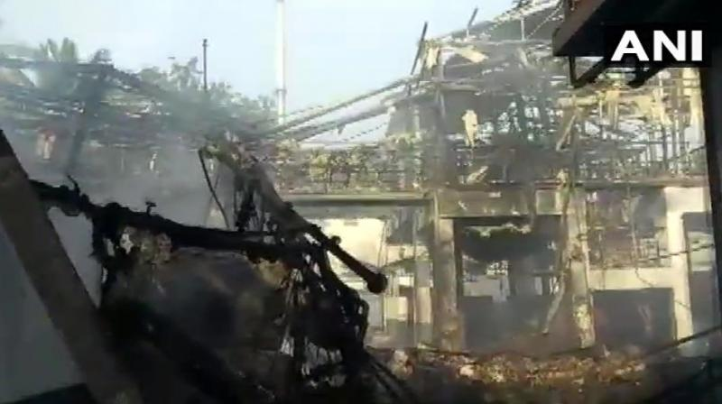 The explosion occurred at Jeevika Life Sciences Pvt Ltd, police sources said.  (Photo: ANI)
