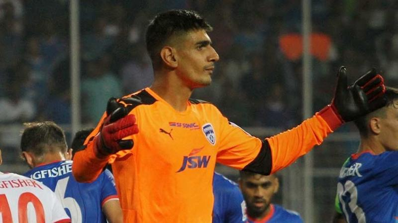 Bengaluru FC goalkeeper Gurpreet Singh Sandhu has been handed a two-match suspension and fined Rs 3 lakhs with immediate effect for the fourth edition of Hero Indian Super League (ISL).(Photo: ISL Media)