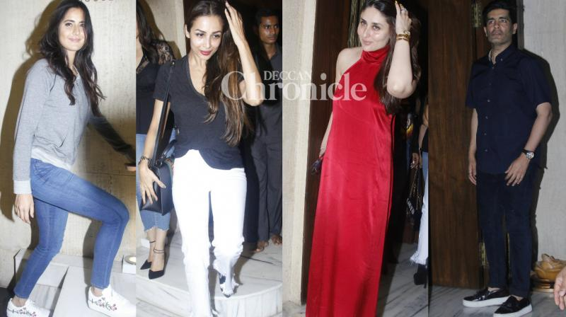 Manish Malhotra hosted a bash for celebrities from Bollywood at his residence in Mumbai late Tuesday, with Katrina Kaif, Kareena Kapoor Khan, among others the guests at the occasion. (Photo: Viral Bhayani)