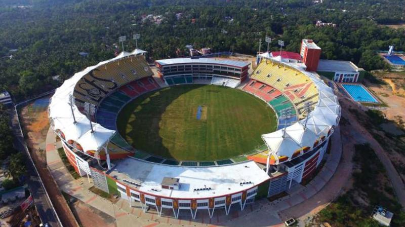 Thiruvananthapuram  Special parking zones for Green Field ODI 4e348788c4413