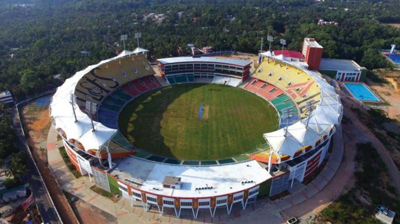The Kerala Cricket Association has tied up with State IT Mission to sell tickets across the state via 2700 Akshaya Centres.