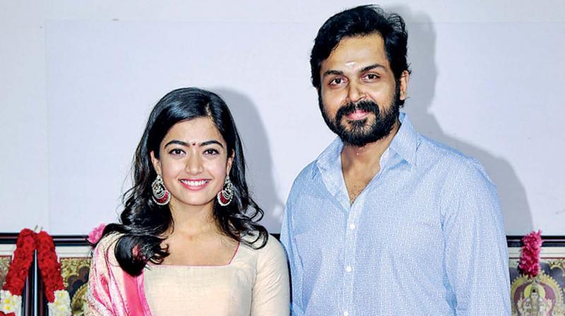 Karthi and Rashmika