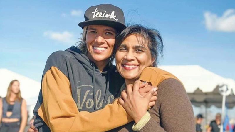 Alexa with her Mother Tara, a native of Thiruvananthapuram.