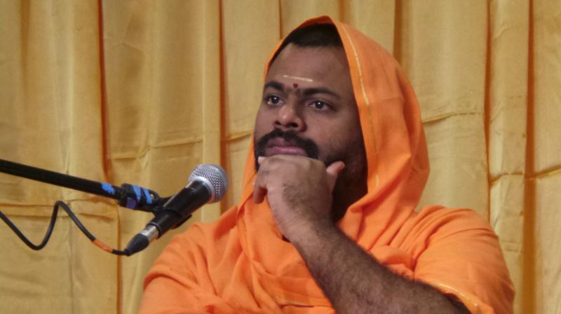 Image result for Sri Peetham of Kakinada Swami Paripoornananda from Hyderabad city for six months