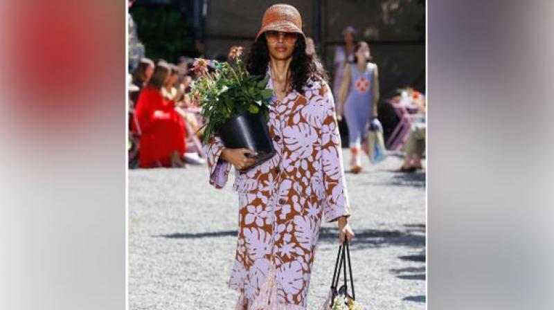Models were spotted dressed as per the theme, cupping plants both in and out of the pot down the nature-made runway. (Photo: ANI)