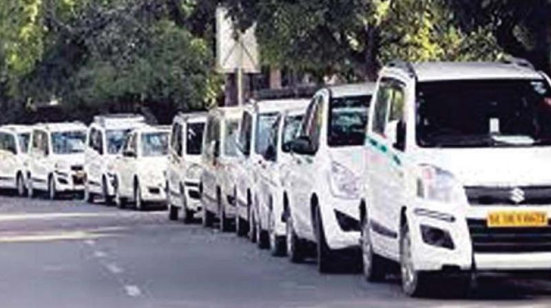 The fleet had strengthened with up to 300 taxis . But the venture slowly petered out.