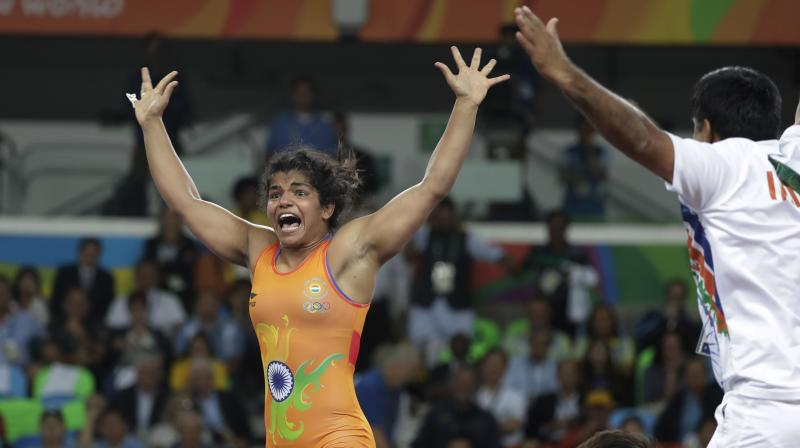 Competing for the first time in women's 60kg category after jumping up the weight division from 58kg, Olympic bronze medallist Sakshi Malik hardly had to break a sweat en route to the final. (Photo: AP)