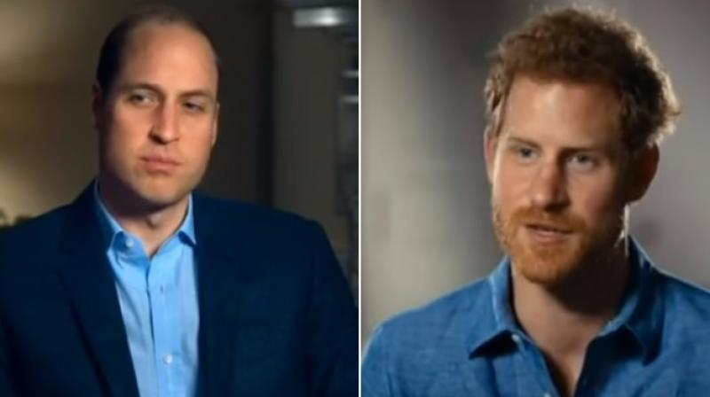 Prince William and Prince Harry. (Photo: Youtube screengrab)