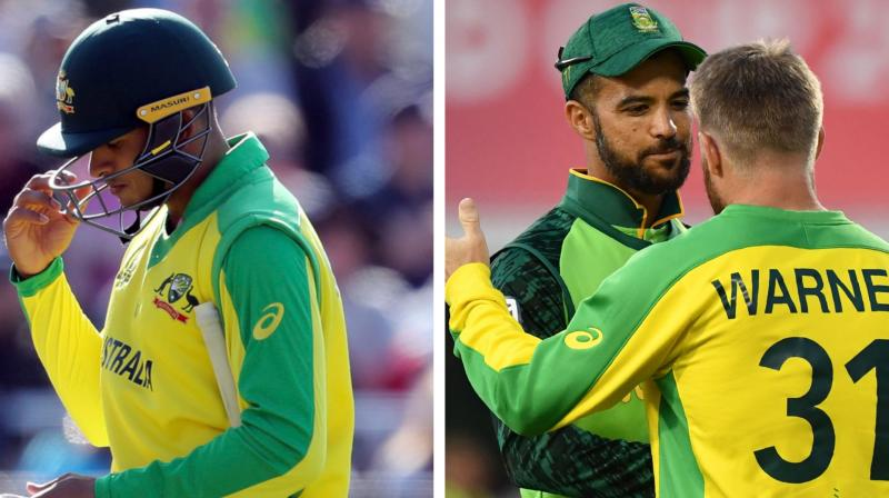 Australia's defeat in their final group stage game to South Africa on Saturday was compounded with injuries to Usman Khawaja (hamstring) and Marcus Stoinis (side) that saw Matthew Wade and Mitchell Marsh pulled out of the Australia A tour to join the World Cup squad as cover. (Photo: AP/AFP)