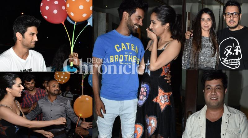 The team of upcoming horror comedy 'Stree' celebrated with a wrap-up bash of the film in Mumbai on Wednesday. (Photo: Viral Bhayani)