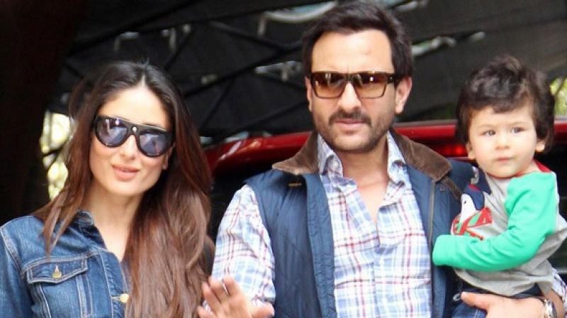 Kareena Kapoor Khan, Saif Ali Khan and Taimur Ali Khan.