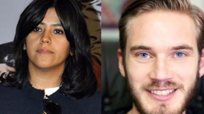 Ekta Kapoor and PewDiePie