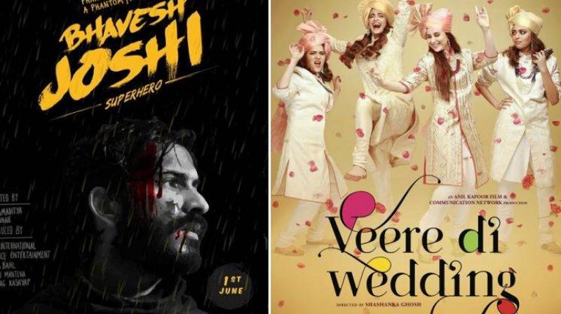 Harshvardhan Kapoor in 'Bhavesh Joshi' and 'Veere Di Wedding.'