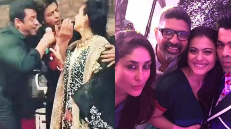 Inside photo of Karan Johar's birthday party and still from Sonam Kapoor and Anand Ahuja's wedding.