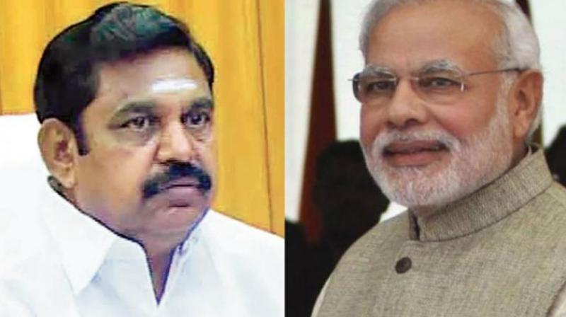 TN CM Edappadi K Palaniswami and PM Narendra Modi