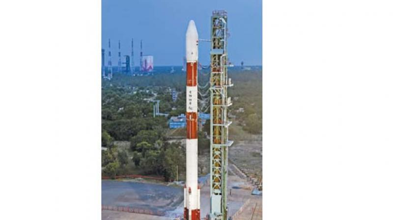 PSLV-C42 on the First Launch Pad. (Source: ISRO official website)