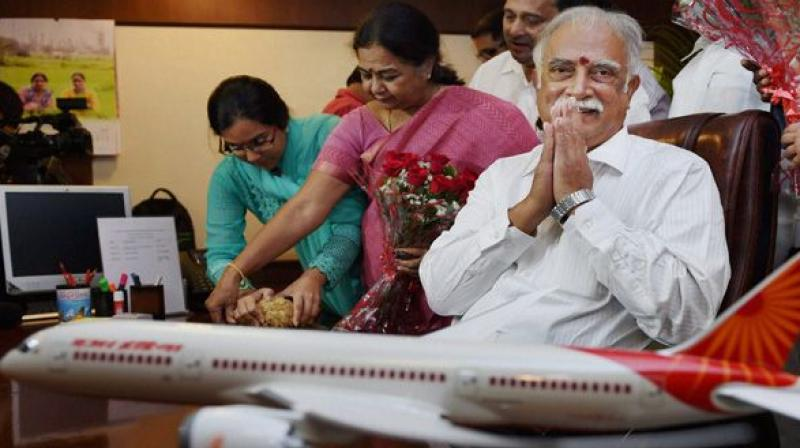 Civil Aviation Minister Ashok Gajapathi Raju.