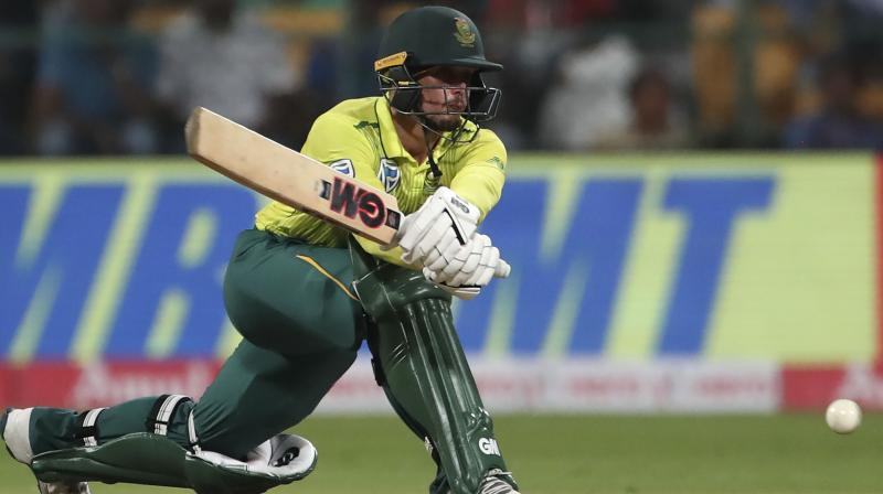 The margin of victory was big but South African captain Quinton de Kock was equally impressed with the manner in which his team fought back to win the third T20 International against India and level the series. (Photo:AP)