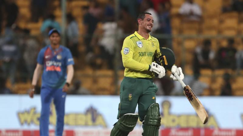 After showcasing a brilliant performance against India on Sunday, South Africa captain Quinton de Kock said team's hard work has paid off. (Photo:AP)