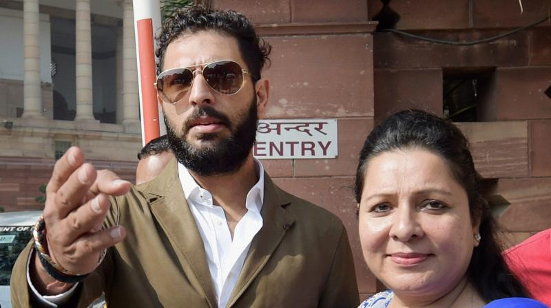 """When Yuvraj and Zorawar's mother (Shabnam Singh) was pressurising Akanksha to have a baby, Yuvraj too had joined in to do the same. He too told Akanksha 'to have a baby',"" said Akanksha, Yuvraj Singh's sister-in-law and Zorawar's wife. (Photo: PTI)"