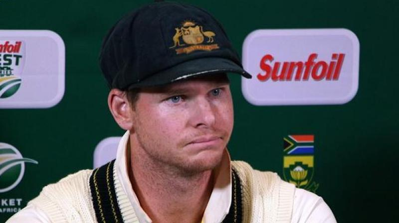 Australia's Steve Smith, who was fined 25 percent of his match fees for dissent, said he has to look at the way he conducts himself as a lot of kids watch him play the game. (Photo: AFP)