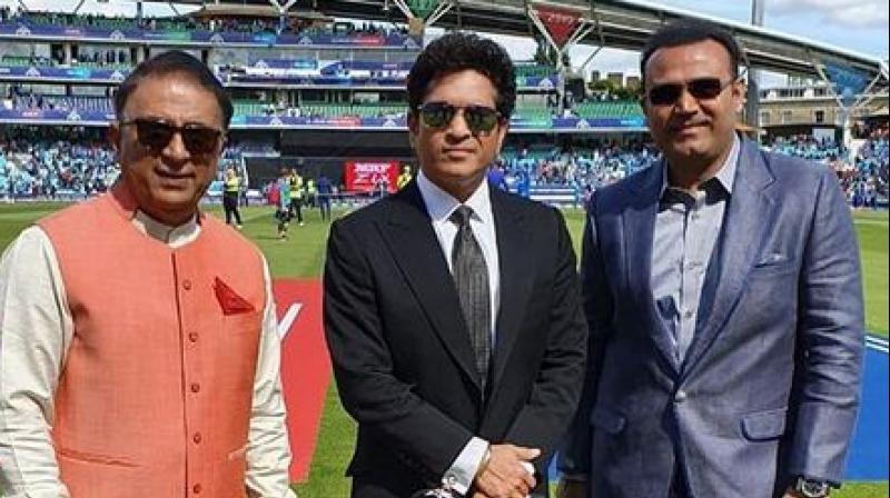 Virender Sehwag shares the frame with Tendulkar and Gavaskar