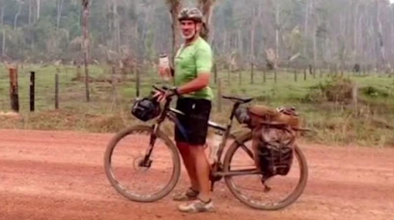 Chris Cassidy is biking 600 miles across the Amazon to raise awareness about climate change and record its effects.