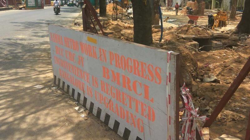 Construction work at the Central Silk Board Junction. (Photo:DC)