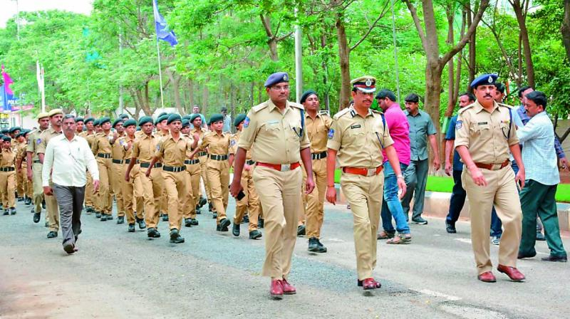 On the lines of the Kerala Police, who started student police cadets in 2010, that helped in building a healthy interface between the police and schools, the Cyberabad Police inaugurated the first batch of SPC on Monday.