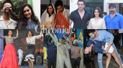 It was a busy day for media persons as almost all actors from films that are up for release were seen at promotional events in Mumbai on Monday. (Photos: Viral Bhayani)
