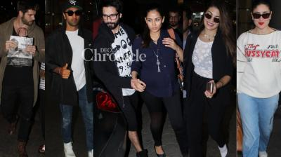 Celebrities from B-Town were spotted by the paparazzi at multiple locations in Mumbai on Monday. (Photos: Viral Bhayani)
