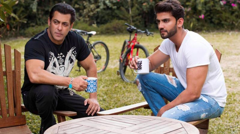 Salman Khan with Zaheer Iqbal. (Photo: Twitter)