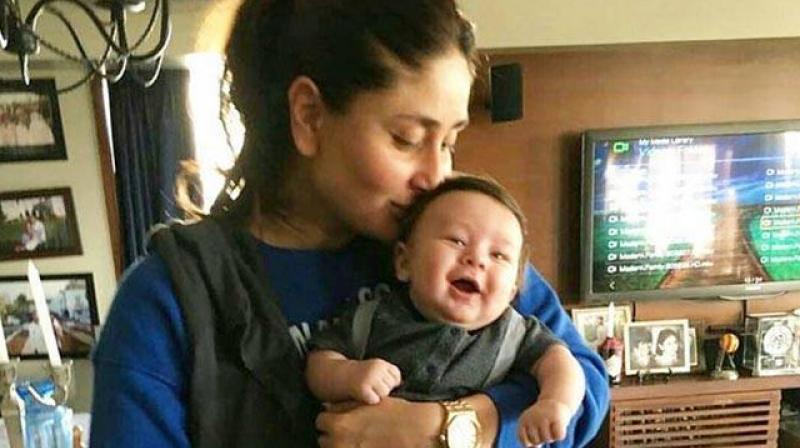 Taimur with mommy Kareena.
