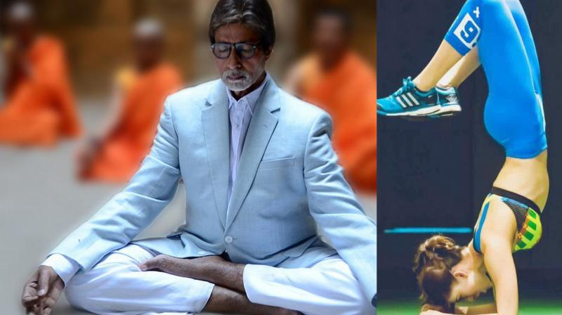 Amitabh Bachchan and Urvashi Rautela.