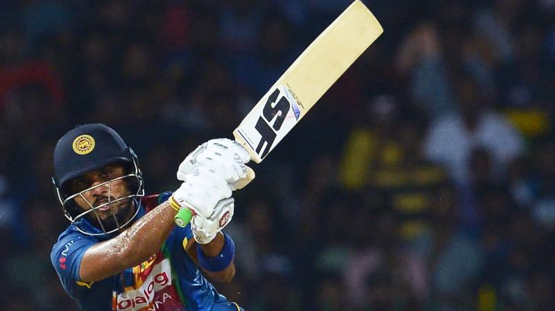 As two suspension points equate to a ban from one Test or two ODIs or two T20Is, whatever comes first for the player, Chandimal has been suspended from his side's fixtures against India and Bangladesh on March 12 and March 16 respectively, while each of his players have received a fine of 60 per cent. (Photo: AFP)