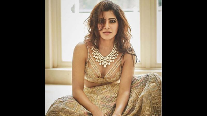 Samantha Ruth Prabhu in her wedding outfit designed by Kresha Bajaj.