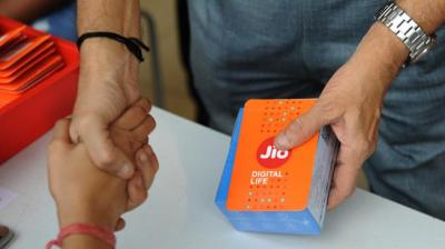 Mukesh Ambani-led firm Jio had pipped Bharti Airtel in May to become the second largest mobile operator with 322.9 million users and 27.80 per cent market, according to Trai data. (Photo: AFP)
