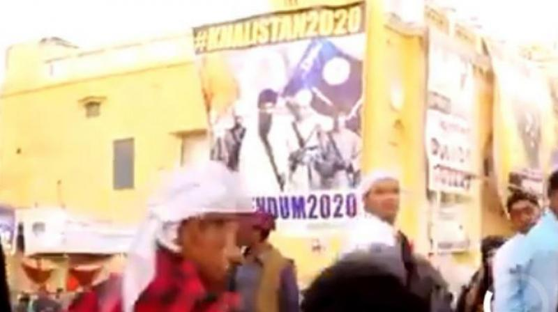 The video released by Pakistan's Ministry of Information and Broadcasting on Monday, has posters of Bhindranwale, Major General Shabeg Singh and Amrik Singh Khalsa, all of whom were killed during Indian Army's Operation Blue Star at the Golden Temple in Amritsar in June 1984. (Photo: Screengrab)