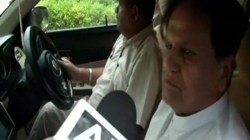 """Later, Patel tweeted a letter addressed to Gadkari and wrote in his post, """"Met Nitin Gadkari to submit various representations - for my constituency and Gujarat state- on underpass construction at Bharuch district, compensation for farmers near the expressway project and relief for MSMEs."""" (Photo: ANI)"""
