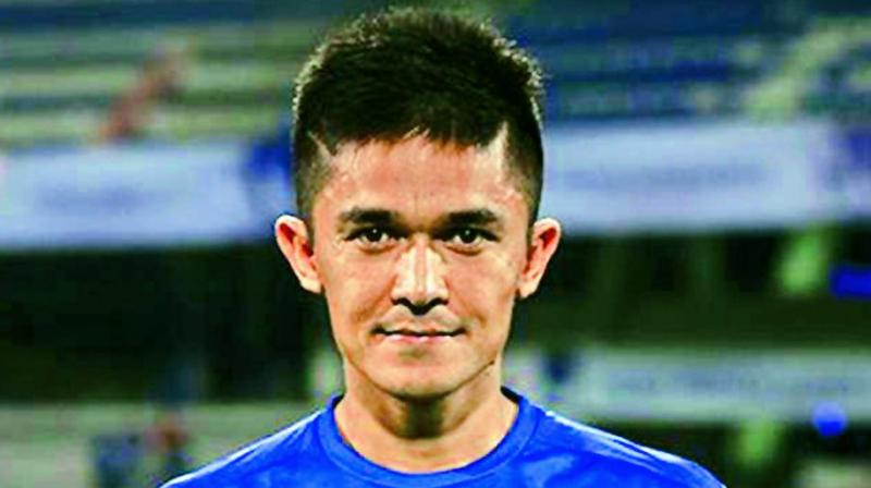 Another chance went begging as the Blues could not divert one on target as Sunil Chhetri drove a loose ball that evaded the near post.